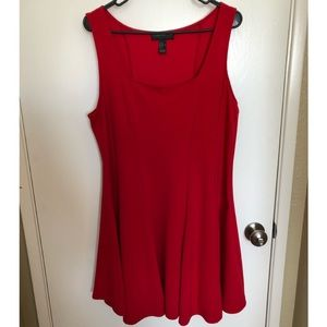 Red Forever21 Plus Fit & Flare Dress